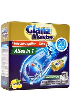 Glanz Meister  Alles in 1 - 20 szt. - Tabletki do zmywarki