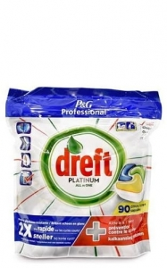Dreft Platinum All in one Lemon - 90 szt. - Tabletki do zmywarki