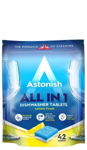 Astonish All In One Dishwasher Tablets - 42 szt. - Tabletki do zmywarki