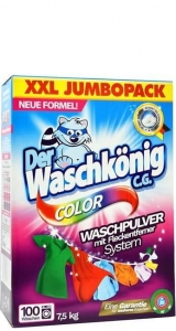 Waschkönig Color DE - 7,5kg - 100 prań - Proszek do koloru