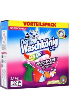 Waschkönig Color DE - 2,4kg - 32 prań - Proszek do koloru