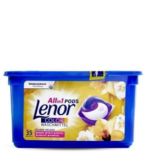 Lenor Pods Color Goldene Orchidee - 35 prań - Kapsułki do koloru 3w1